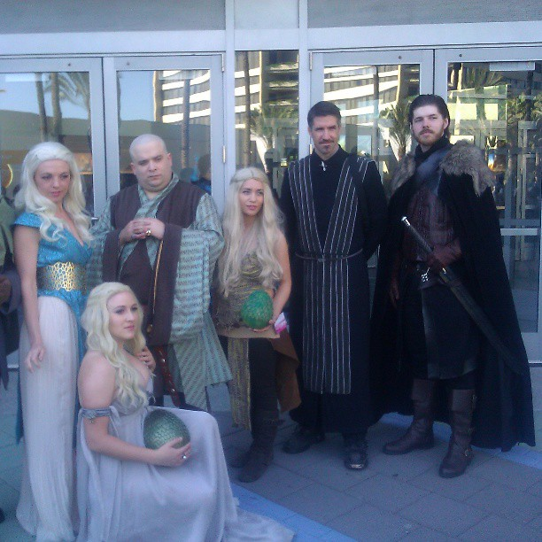 Game of Thrones group #cosplay at #Wondercon #GameOfThrones