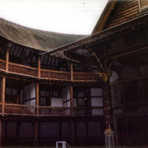 And now inside the Globe #Theatre. I missed out on all the #Shakespeare love online yesterday, but tracked down and scanned some shots from a 1999 trip to #London. Having just graduated in #theater at the time, a stop at the reconstructed Globe was mandatory. #latergram #travelgram #flashback #tudor #history #stage #england #elisabethan #gloomy #thatch