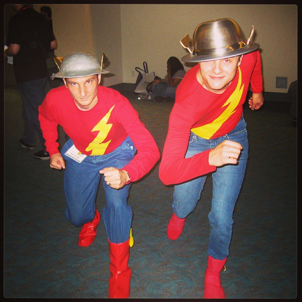 That time two Golden Age Flashes met at Comic Con