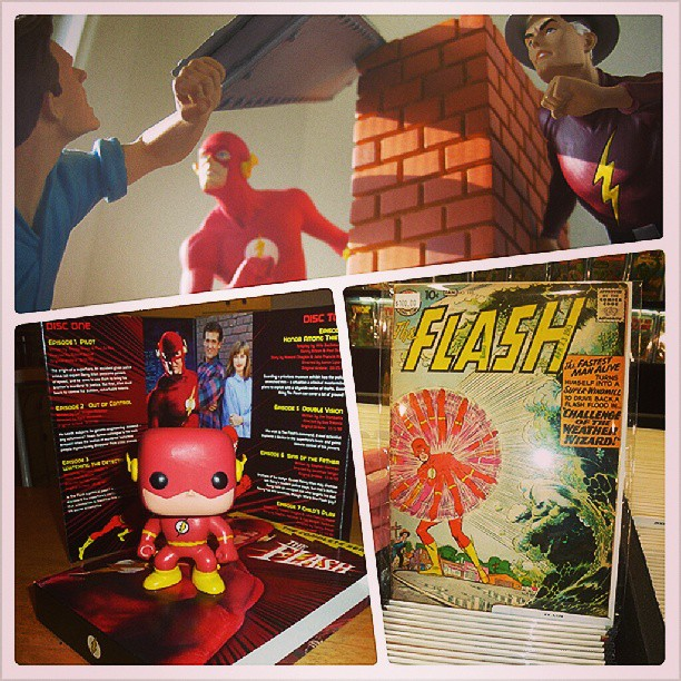 Speed Force is running a photo challenge for our fifth anniversary! To participate, follow @SpeedForceOrg on Instagram and post a photo of/with your favorite piece of Flash memorabilia tagged. It can be a comic book, a toy, a statue, a costume, a poster, a piece of original art, a DVD, a shirt or towel, a game piece, anything. It can be official or custom-made. It can be something you own, or something you've seen. We'll post the highlights next Friday. (Please post your own photos only.)