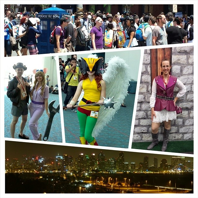 A sampling of photos my wife and I took at Comic-Con International in San Diego this weekend. The full set is at flickr.com/kelsonv #sdcc #sdcc2014 #comiccon #sandiego #cosplay #doctorwho #rescuerangers #hawkgirl #aliceinwonderland #onceuponatime #skyline