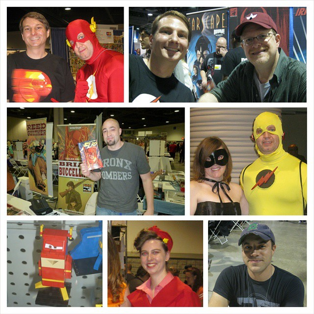 Meeting Flash writers/artist & cosplayers at past @longbeach_cc. Can't believe this year's con is almost here