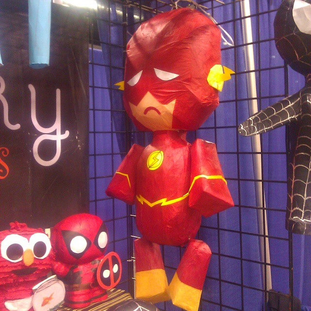 Sad Flash at last year. Someone should go back in time and tell him it gets better: he'll havs a hit TV show in a few months.  Watch for all-new photos from THIS year's Wondercon over the weekend