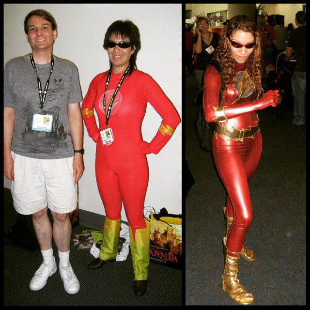 Two Flash cosplayers at 2007