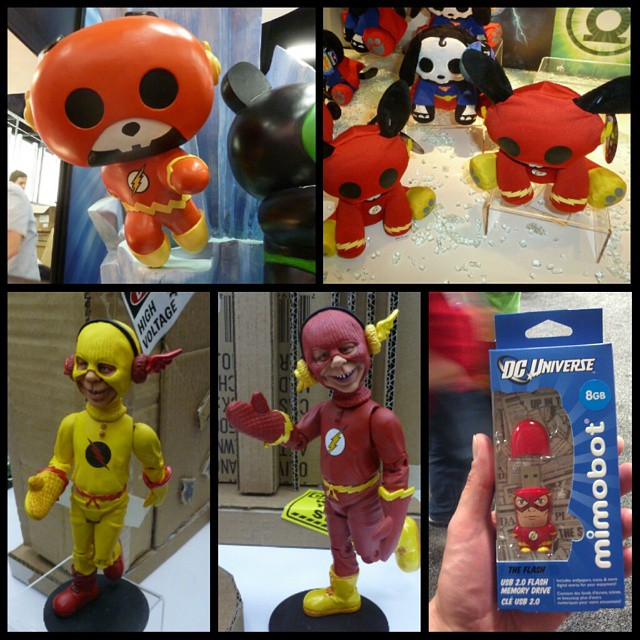 Odd Flash merch from 2012. Skelanimals, MAD Flash & Professor Zoom, and of course a Flash drive