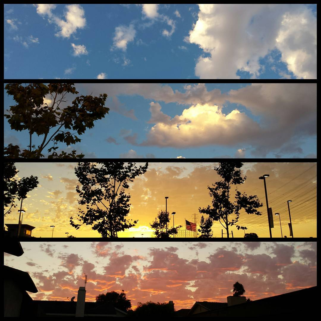 #Sunset and #clouds progression.