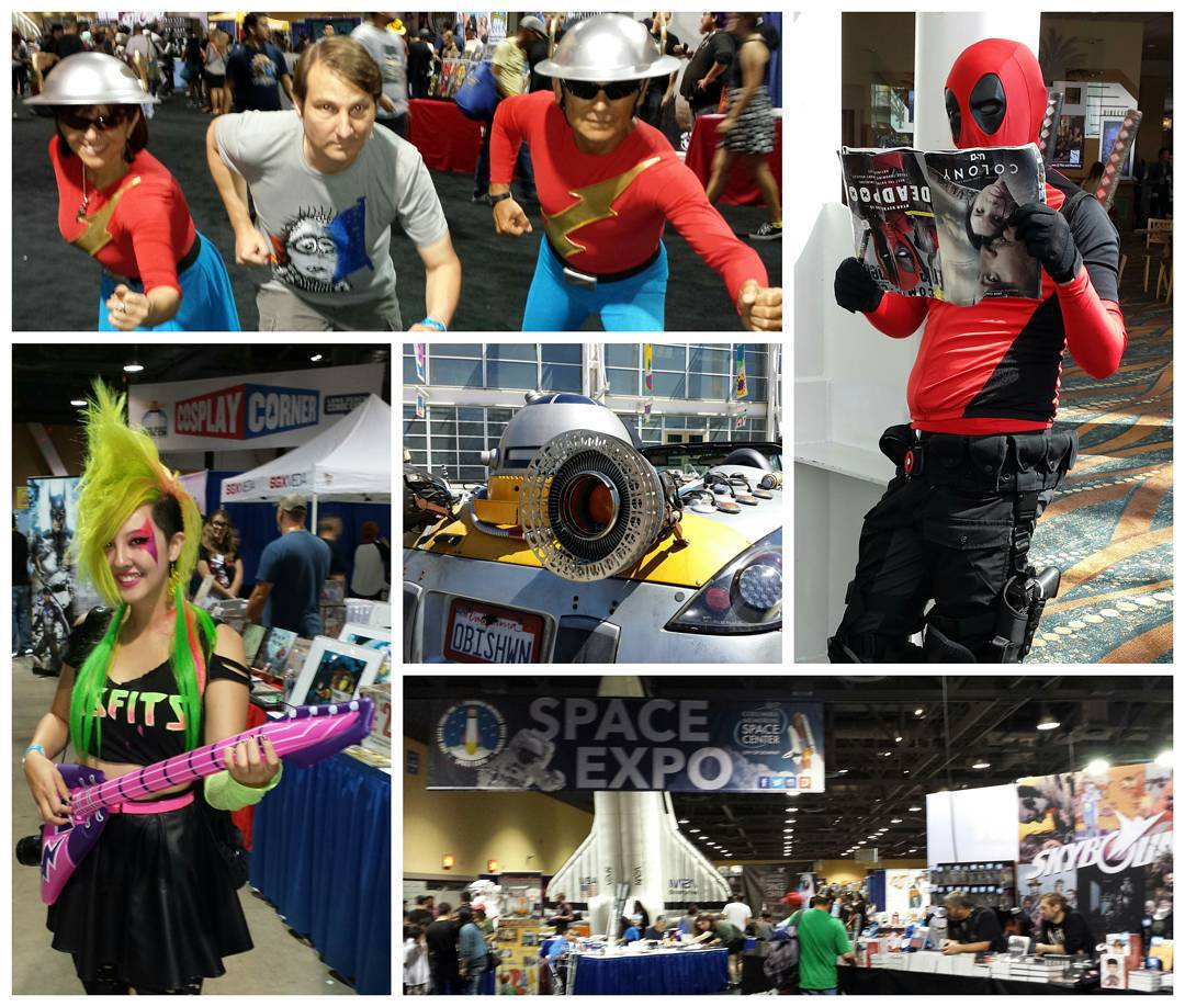 Cosplay, comics, Star Wars cars & space from @Longbeach_CC last weekend. I posted photos during the con at @speedforceorg & the full set is at Flickr.com/kelsonv  #lbcc #lbcc2015 #longbeachcomiccon #longbeachcomiccon2015 #cosplay #comiccon #collage #deadpool #starwars #theflash #jaygarrick #spaceexpo #comics #pizzazz