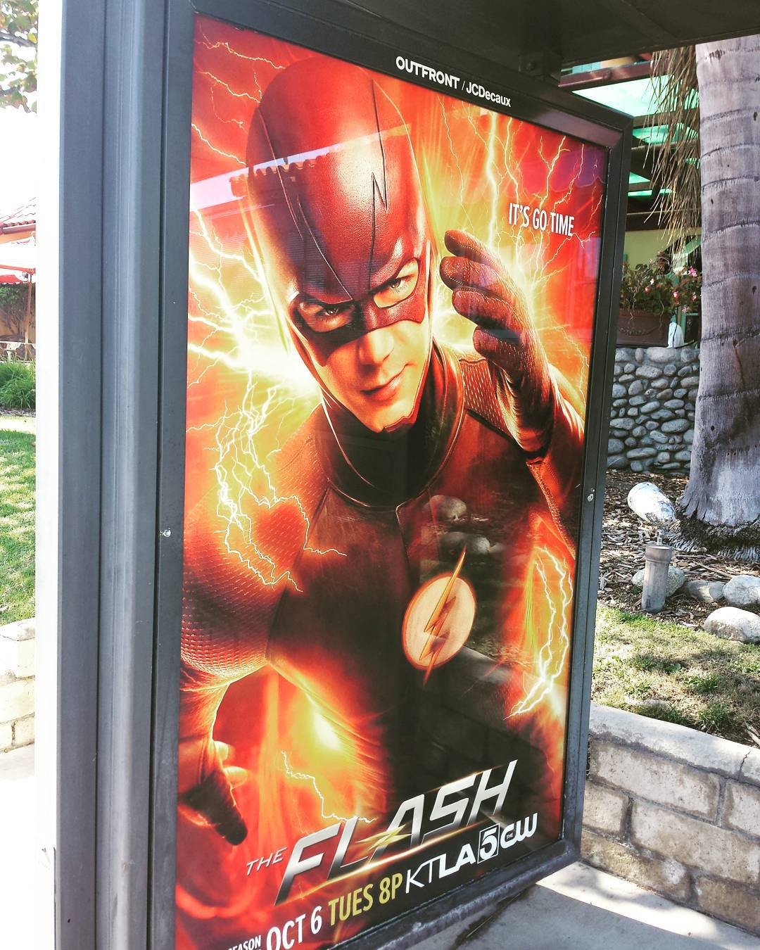 Finally caught a Flash poster in the wild. I've seen a freeway billboard and a bus wrap, but couldn't stop for a picture either time.  Moving too fast