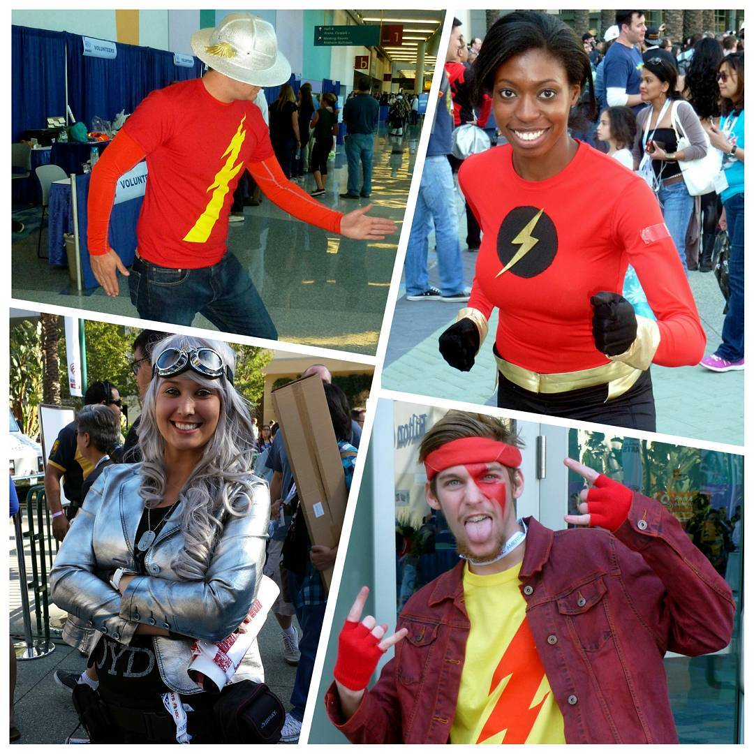 Flash & Quicksilver at last year's @wondercon. We'll be posting photos from this year's convention over the weekend