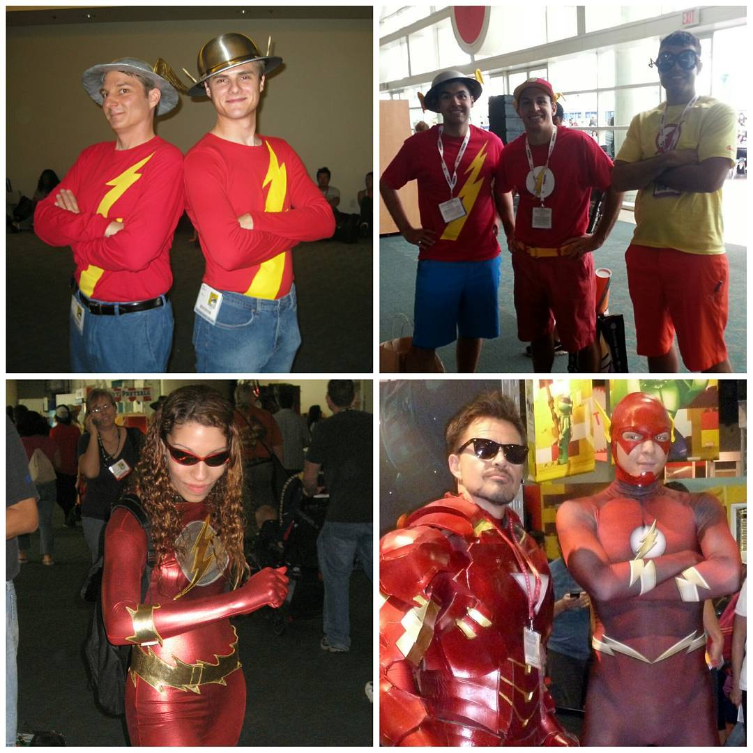 Flash cosplay from past Comic Cons