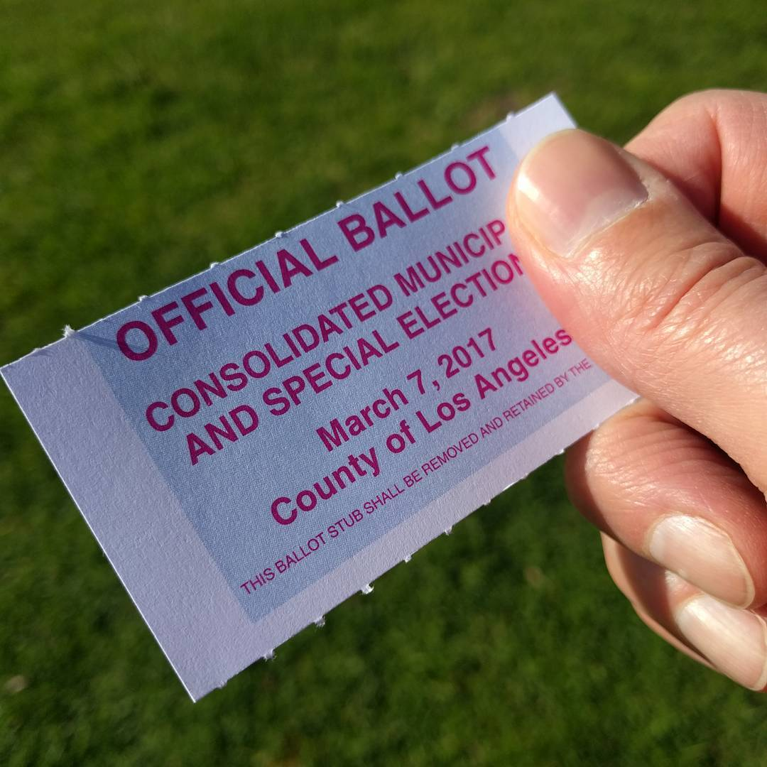 Remember to vote in local elections. Initiatives, council & school board members, judges, etc. affect you and your community directly even if it's not as exciting as the Presidential race. And the people elected locally go on to build the pool of state and national candidates. If you care about 2018 or 2020, get out and vote locally to get the ball rolling.  #vote #election #ivoted