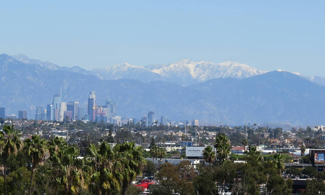 First significant snow above Los Angeles this winter!  Unfortunately, it's almost spring