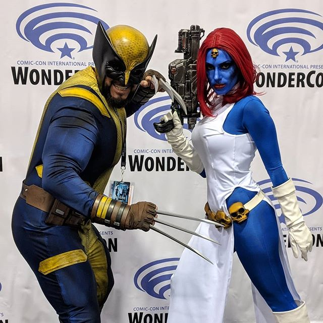 Wolverine and Mystique at Posting as I go, full gallery will be on Flickr/KelsonV