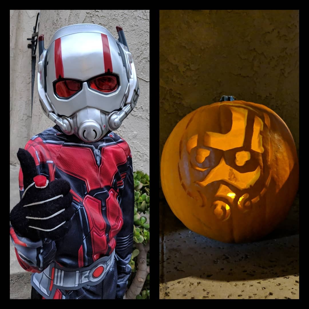 Ant-Man approves of this Jack-o-Lantern.