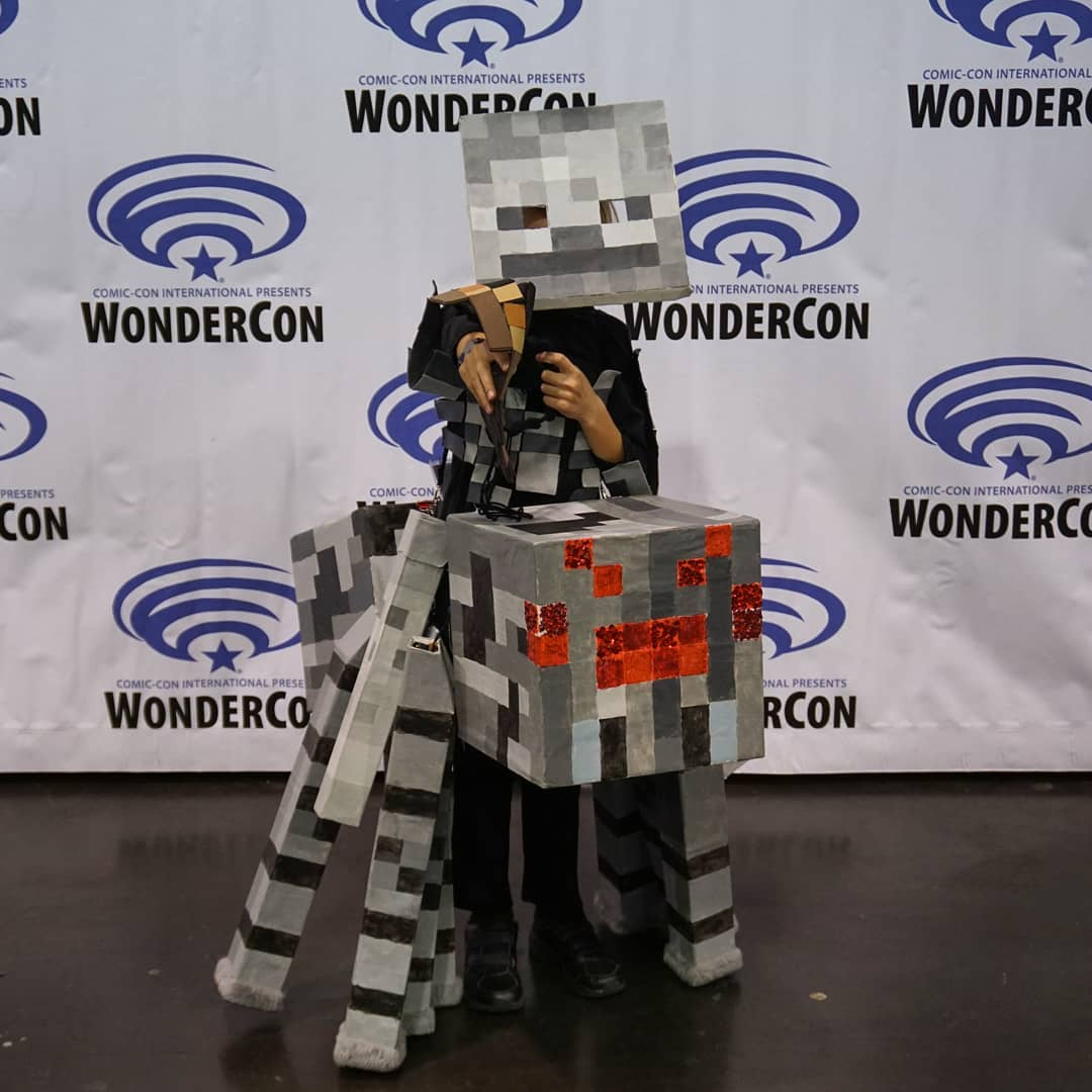 The kid got a *lot* of comments on the costume at @WonderCon