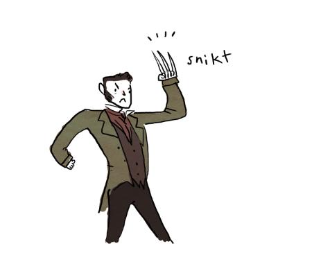 Valjean unsheathes Wolverine's claws.