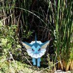 A Vaporeon in reeds.