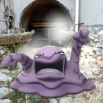A Muk in a drainage grate.