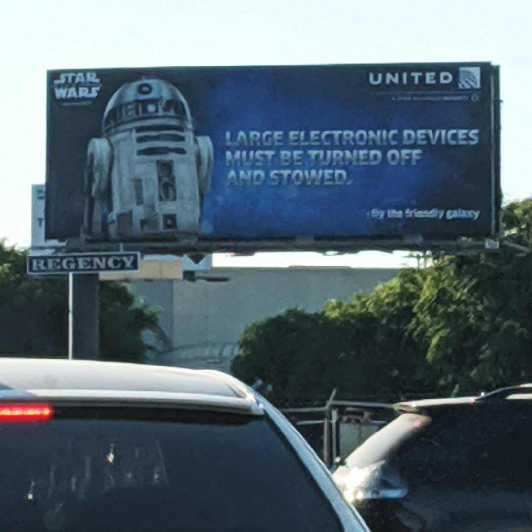 Spotted this billboard near the airport. #StarWars #signs #R2D2 #silly