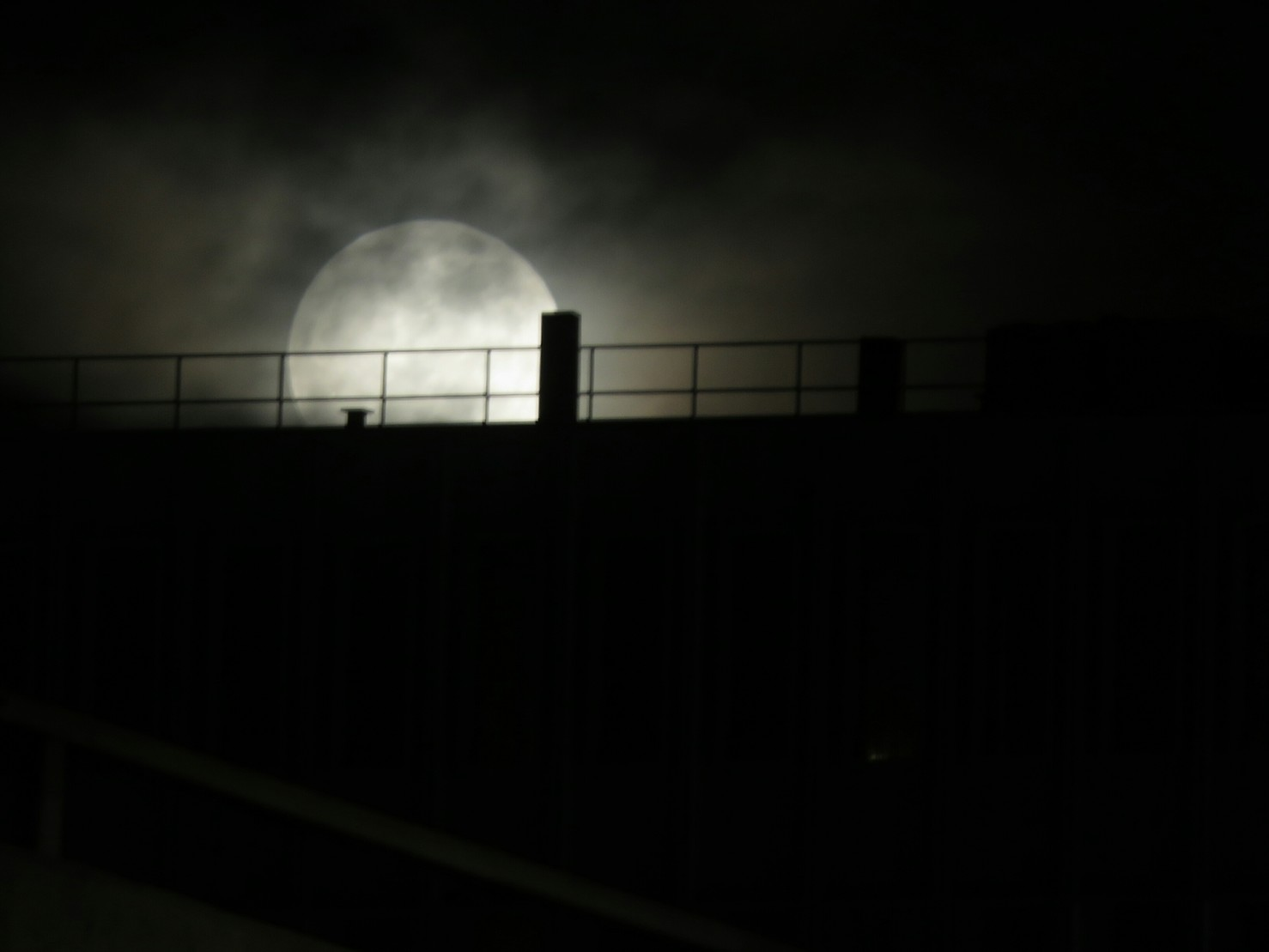 Looking...up?...at the #moonrise over a rooftop.#photo #silhouette #night #sky #moon