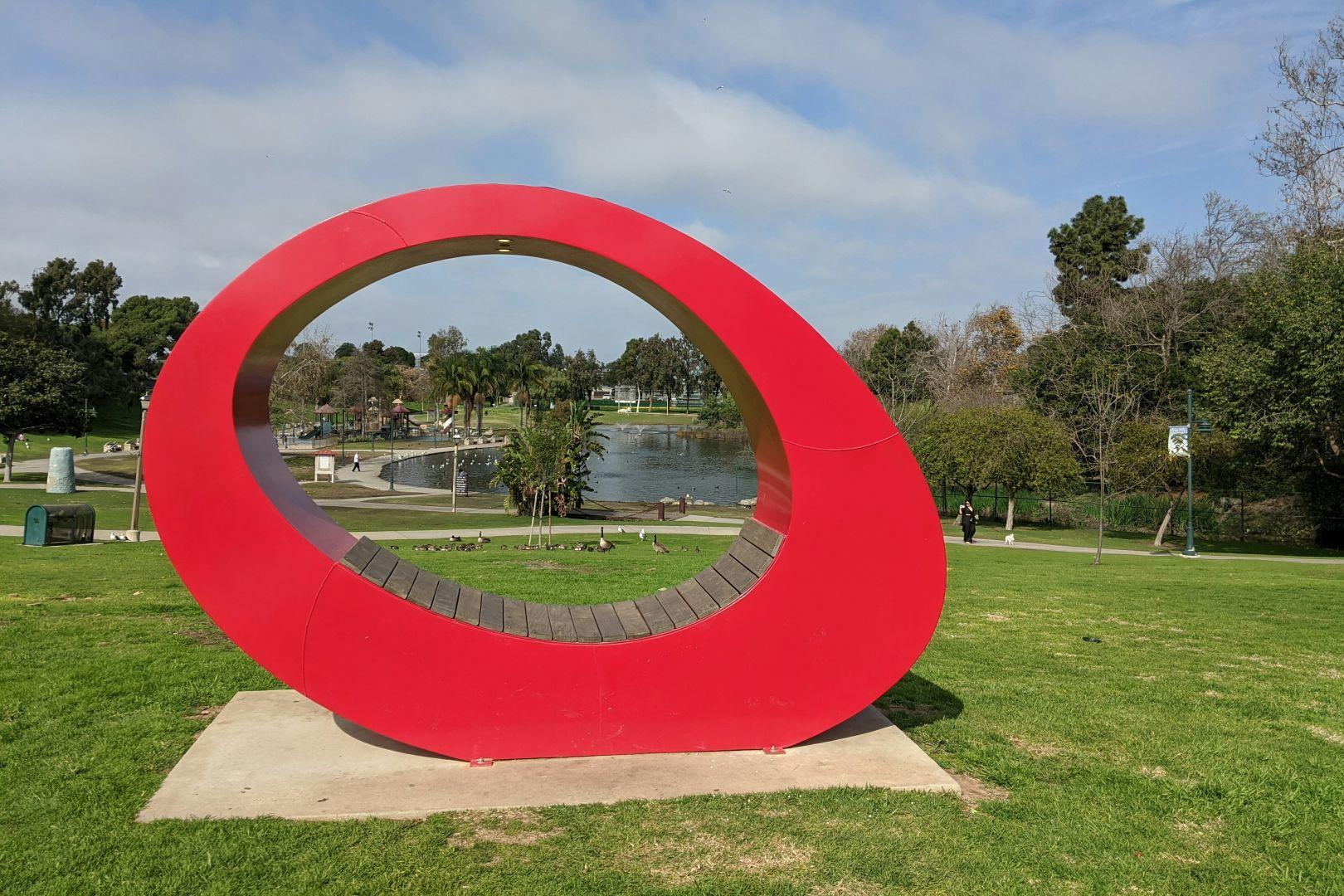 When did they install the Guardian of Forever at this park? #park #gateway #sculpture #pond #StarTrek #CityOnTheEdgeOfForever