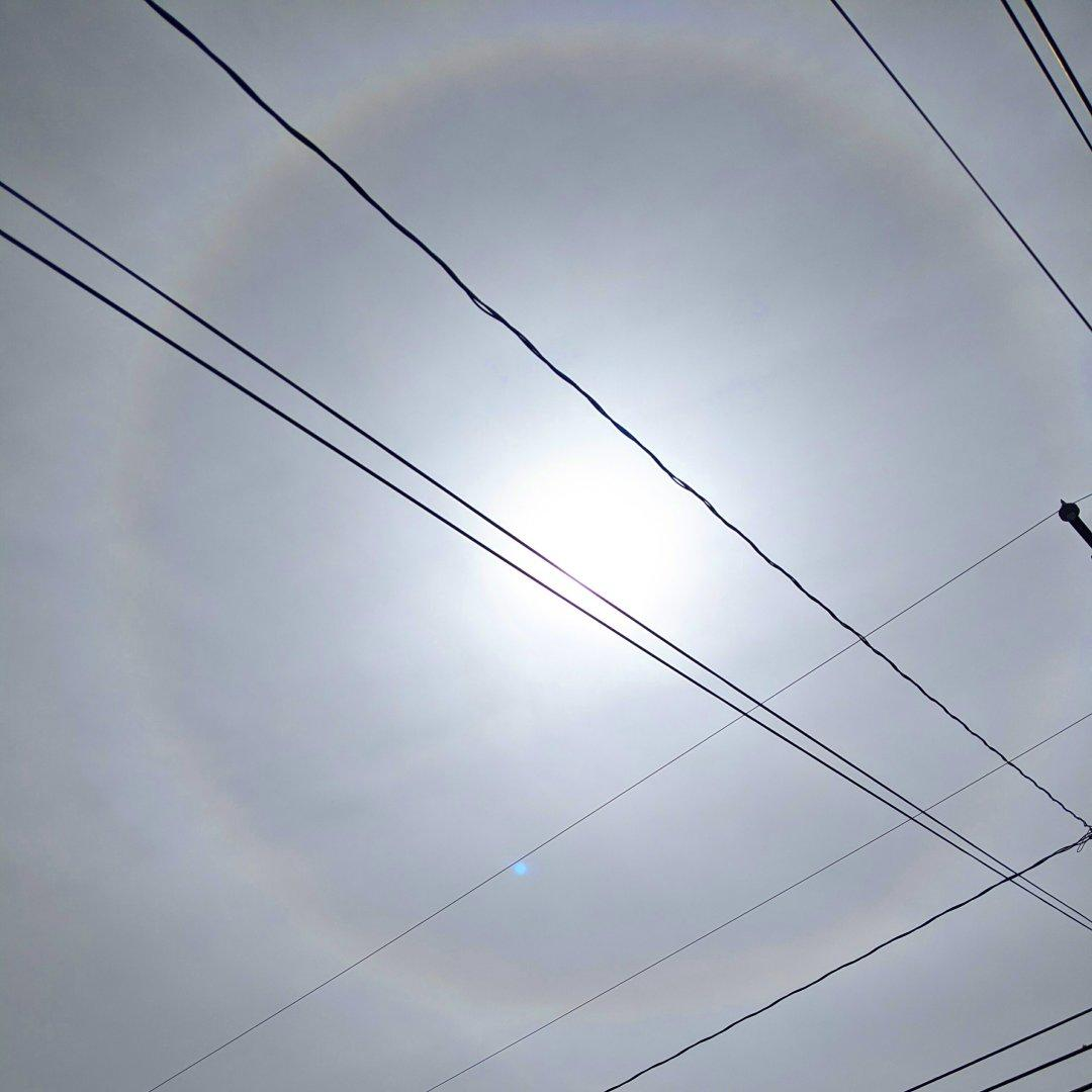 Tangents and chords across a sun #halo.