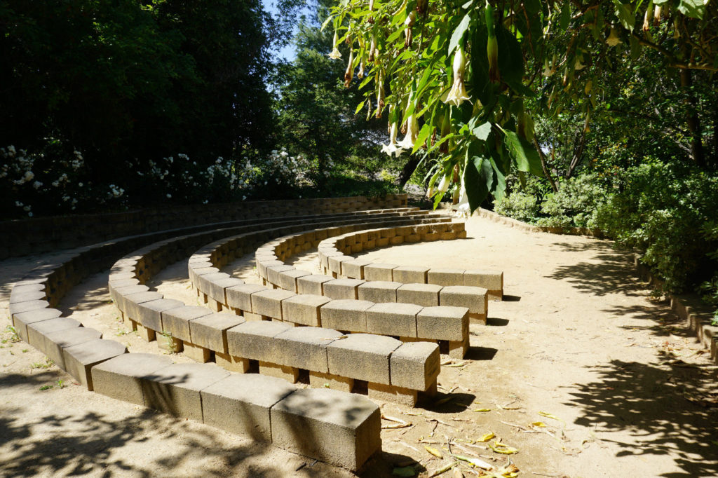 Shady amphitheater.