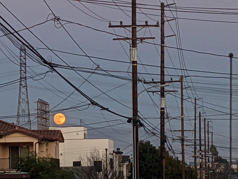 Orange moonrise